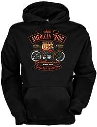 V-Twin Made in USA Harley Davidson seit 1903 Kapuzensweatshirt American Pride - Enthusiast in schwarz