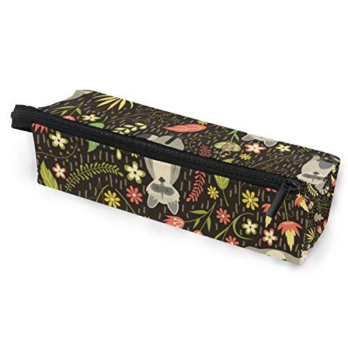 Sonnenbrillen Soft Protector Box Rhombus Federmäppchen Federmäppchen Tasche Raccoons Rasen Multifunktionstasche mit Reißverschluss für Studenten, Kinder, Jugendliche, Mädchen, Frauen, Männer, Jungen -