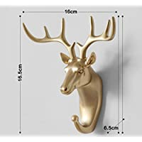 Decorative Animal Head Deer Head Rhinoceros Horse Hook Wall Hanging Coat Rack Easy To Install Resin Clothes/Clothing/Key Hook Frame