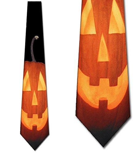 Three Rooker Herren Krawatte mit Kürbis-Motiv (Company-halloween-kostüm Ist Drei)