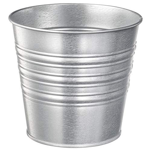 Vaso per piante, zincato interni/esterni, 12 cm, altezza del prodotto: 12 cm, diametro esterno: 14 cm max. Diametro vaso: 12 cm; diametro interno: 13 cm; materiale: acciaio zincato.