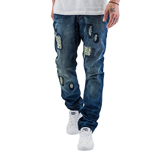 Just Rhyse Herren Jeans / Straight Fit Jeans Sunny Blau
