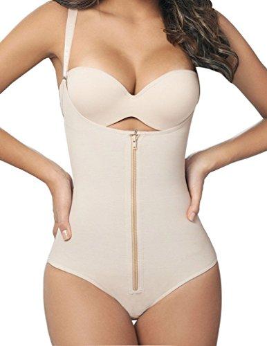 Camellias Women Open Bust Bodysuit Seamless Firm Control Shapewear Underwear Body Shaper Briefer