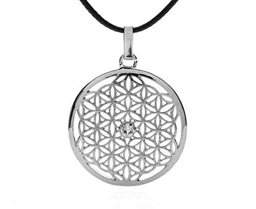 Silvity Damen Blume des Lebens Halskette mit Crystals from Swarovski® Kristalle 958901-P-20