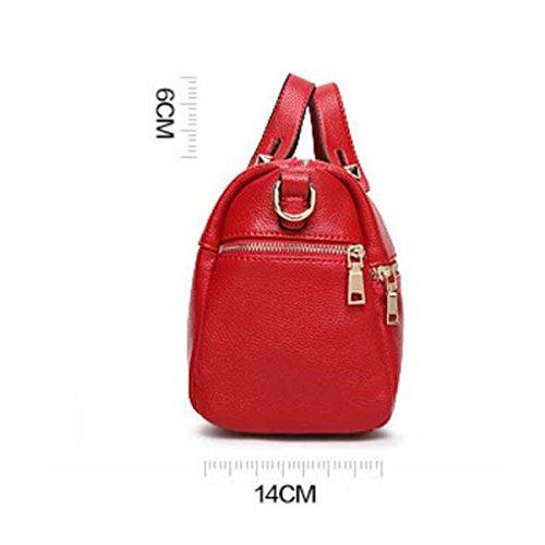 Frauen-Litschi-Handtasche PU-Leder-Mode-Umhängetasche Red