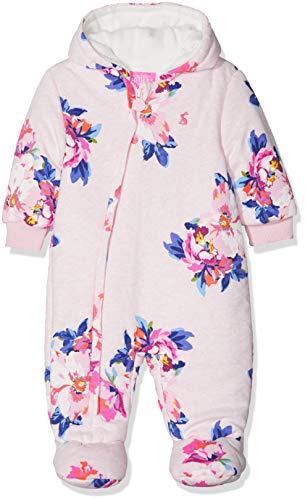 joules Baby-Mädchen Snug Schneeanzug, Pink Marl Granny Floral, 56 -