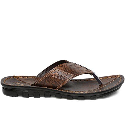 5bc7c8039e42 Buy PARAGON Vertex Men s Brown Flip-Flops on Amazon
