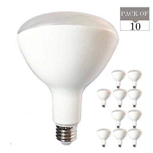 10er Pack BR40LED Glühlampen, 15W (ersetzt Standard 120Watt Glühlampen BR40), ac90V-265V, E27Sockel, 3000K (Warm Weiß), 1500lm, nicht dimmbar Led-br40