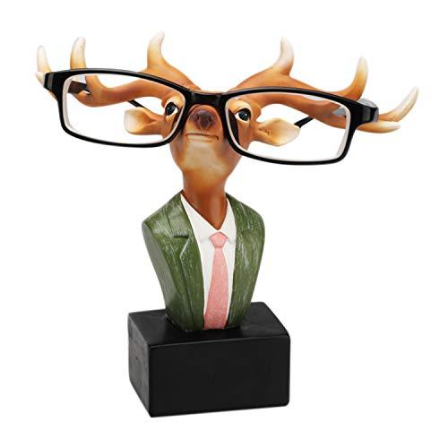 Boodtag Brillenhalter Brillenablage Giraffe Zebra Hippo Schafe Rentier Hirsch Lippe Bart Tisch Dekoration Weihanchten Freunden Familien Kinder (Zebra Dekorationen Tisch)