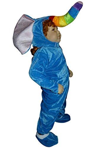 Elefanten-Kostüm, F81/00 Gr. 80-86, für Klein Kinder, Elefant Faschingskostüm, Elefanten-Kostüme Elefanten-Kinderkostüm für Fasching Karneval, Klein-Kinder Karnevalskostüme, Kinder-Faschingskostüme