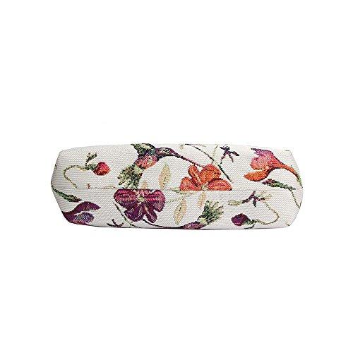 Borsetta donna Signare alla moda in tessuto stile arazzo a spalla borsa messenger a tracolla floreale Colibri