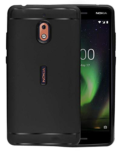 ECellStreet Protection Slim Flexible Soft Back Case Cover for Nokia 2.1 (5.5 Inch 2018) - Black