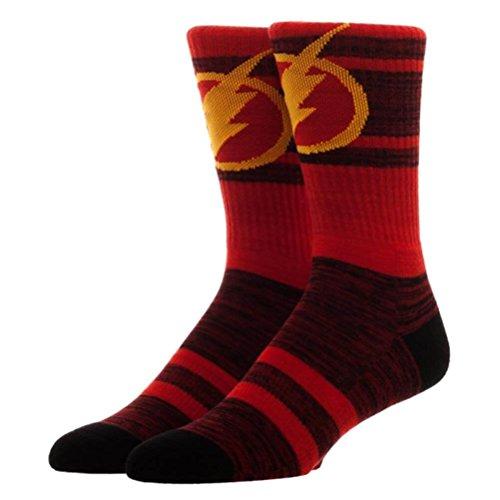 Offizielle DC Comics Der Flash Suit Up Erwachsene Crew Socke - ()