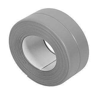BingQing brand Tub And Wall Caulk Strip. Kitchen Caulk Tape Bathroom Wall Sealing Tape Waterproof Self-Adhesive Decorative Trim-grey