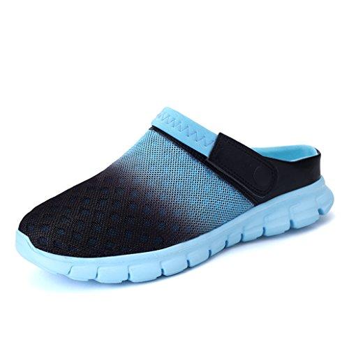 Eagsouni Sommer Slip-on Clogs Hausschuhe Atmungsaktiv Mesh Pantolette Outdoor Rutschfest Sandalen Herren Damen Beach Schuhe