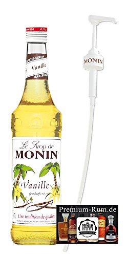 Monin Sirup Vanille 0,7l inkl. Dosierpumpe PiHaMi® Set