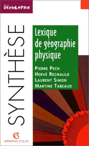 Lexique de géographie physique