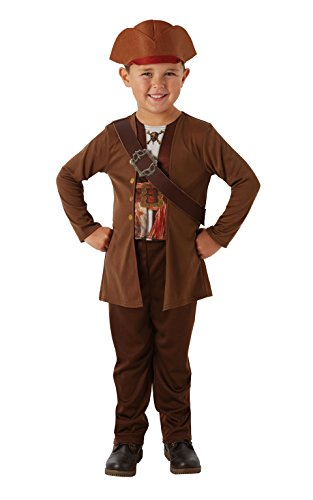 Rubie's- pirati dei caraibi movie costume jack sparrow per bambini, l, it630787-l