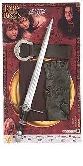Original Lizenz Herr der Ringe Aragorn Zubehör Set Schwert Kinderkostüm Kostüm für Kinder Aragornkostüm Gr. Einheitsgröße (Kinder Abenteuer Mal Kostüm)