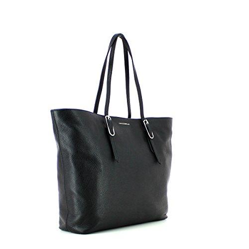 COCCINELLE FLO SOFT DOUBLE SHOULDER BAG YB1110101 Nero