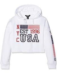 New Look American, Sweat-Shirt à Capuche Fille