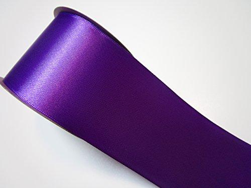 CaPiSo 10 m Satin-Schleifenband 50mm Breit 5cm Strängchen Geschenkband,Dekoband,Weihnachten (Lila)