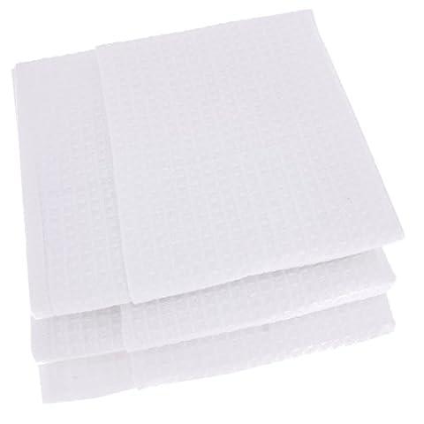 3x Geschirrtücher / Tücher aus 100% Baumwolle Waffel-Piqué in weiss / weiß