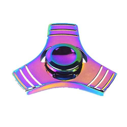 Missley Fidget Spinner Hoher Geschwindigkeit Handspielzeug Hand Spinner Special Finger Spinner Dekomprimierung Stress und Angst Relief (Regenbogen-25)