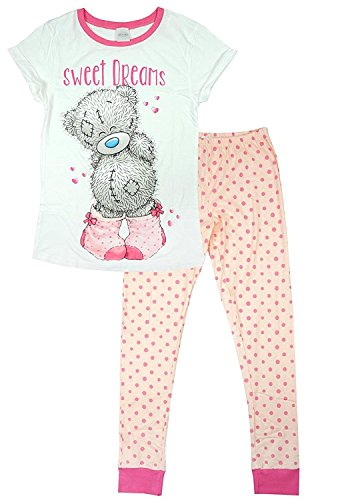 - 41242HyTDkL - Womens Official Me To You Tatty Teddy Sweet Dreams Gift Pyjamas Plus Sizes from 8 to 22