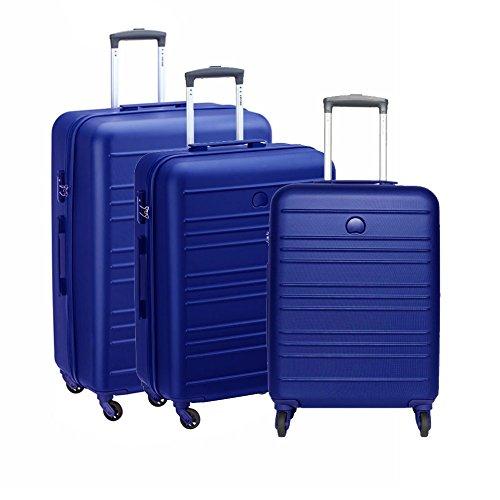 Set Trolley Grande, Medio e Piccolo Spinner 4 Ruote | Delsey Carlit | 003445986-Azzurro