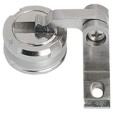 Gedotec Möbel-Glastürscharnier Möbelband CLARONDA für Vitrinen & Kommoden | Möbelscharnier Messing für Glas & Holz | Glastürband mit Öffnungswinkel 105° | 1 Stück - Schrank-Scharnier für Glastüren