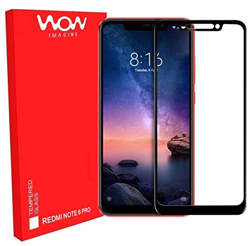 WOW Imagine Premium Full Glue 5D Full Edge-to-Edge Screen Protection Tempered Glass for XIAOMI REDMI Note 6 PRO – Black