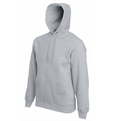 Fruit of the Loom Classic Hooded Sweat 1er Pack Heather Grey