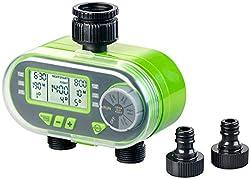 Royal Gardineer Bewässerungcomputer: Digitaler Bewässerungscomputer BWC-200 mit 2 Anschlüssen (Bewässerungsautomat)