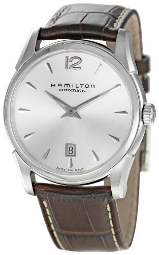 Hamilton Men's Jazzmaster Series 40mm Brown Leather Band Steel Case Automatic Analog Watch H38515555