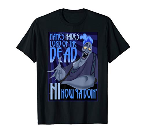 Disney Hercules Hades Lord Of Dead Poster Style  T-Shirt