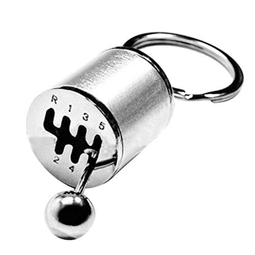 BigBigShop Fob Schlüsselanhänger Kreatives Auto-6-Gang-Getriebe Gangschaltung Racing Tuning Modell Schlüsselanhänger (Silber)