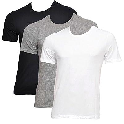BOSS Hugo Boss Three Pack of Crew Neck T-Shirts Multi Coloured