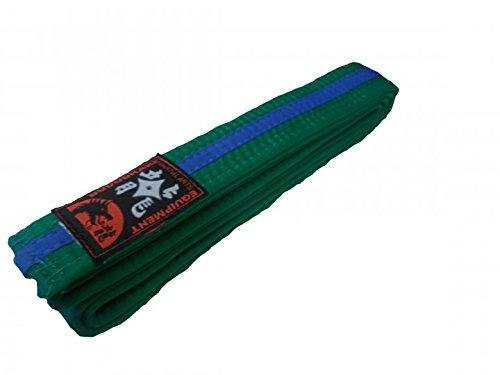 Karategürtel grün, blauer Mittelstreifen Judogürtel Taekwondogürtel