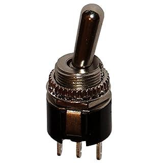 Aerzetix - Schalter mit Hebel SPDT on-on 3 A/250 V, 2 Positionen