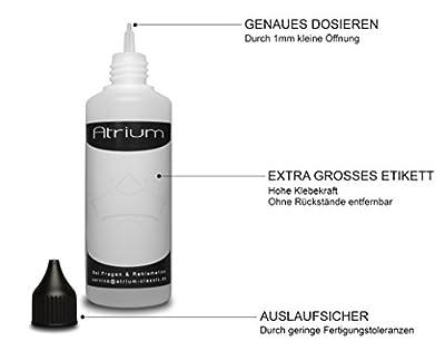 11 x 100 ml Liquidflaschen | Schadstoff geprüft | Flaschen für E-Liquids | Tropfflaschen zum Mischen von Liquiden wie z.b. Farben, Saucen, Ölen, o.ä. inkl Etiketten von Atrium classic