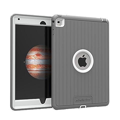 iPad Air 2Cas, par esellerbox®, [Ultra] [Armor] intégralement hybride robuste Étui de protection 3couches avec pieds Gouttes des chocs et des chocs Housse étui coque protection d'écran intégrée