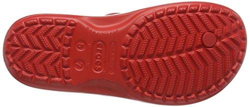 Crocs Crocband Flip, Infradito Unisex-Adulto Rosso (Flame/White)