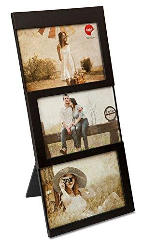 balvi Fotorahmen Dijon Schwarz Fassungsvermögen: 3 Fotos mit den Abmessungen 10 x 15 cm Fotorahmen Tischmodell Kunststoff 34 x 16 cm