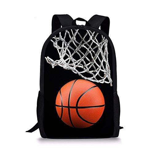 NA Jake Fashion Shop Basketball Print Kinder Schulrucksack Jungen Mädchen Daypack Büchertasche