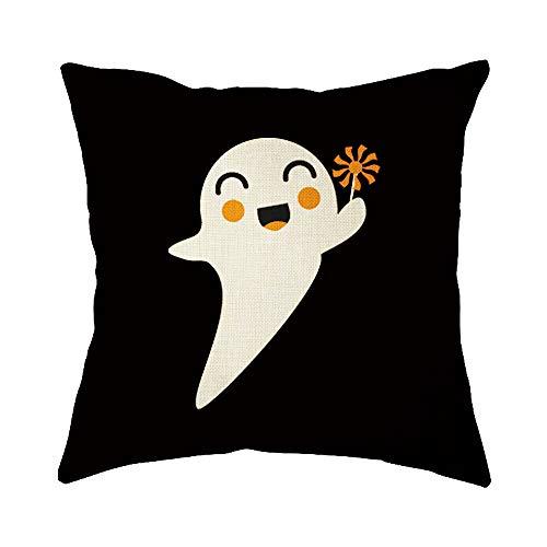 HUYURI Kissenbezug, Halloween, Heimdekoration, Büro, Sofa, Geometrisches Design, -