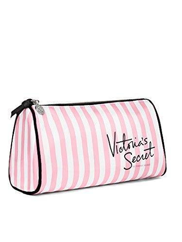 VICTORIA 'S SECRET Makeup Bag Pink & White Stripes by Victoria's Secret