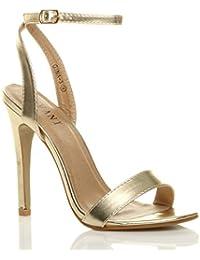 Scarpe Donna Sandali Cinturino Designer 4606 NERO 39