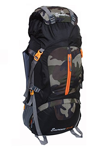 Emerence 1024 Rucksack, Hiking Backpack 75Lts (Camouflage) With Rain Cover and Laptop Compartment