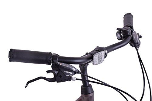 "4124APsqLpL - Ammaco Traveller 700c Mens Hybrid Bike Front Suspension Alloy 19"" Frame Grey 21 Speed"